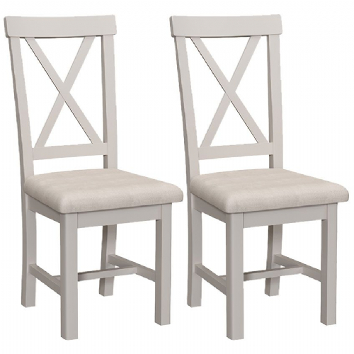 Pair of Cranleigh Cross Back Dining Chairs